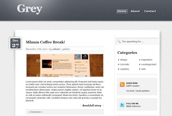 Grey WordPress Tema