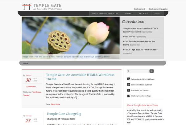 Temple Gate WordPress Tema ekran görüntüsü