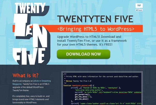 TwentyTen Five WordPress Tema ekran görüntüsü