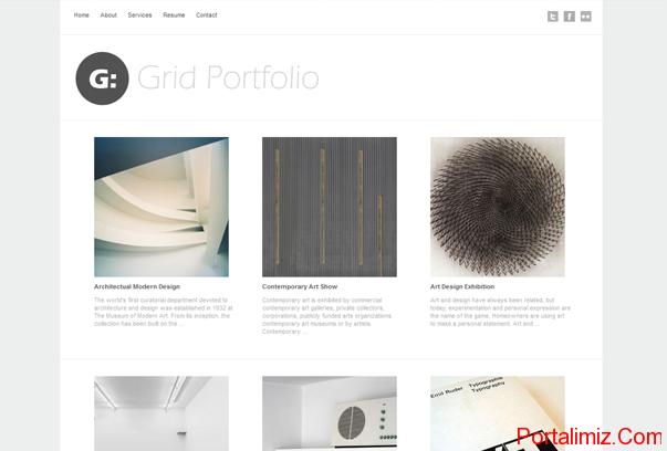 Grid Portfolio WordPress Tema