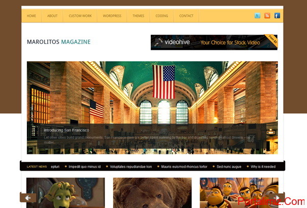 Marolitos Magazine WordPress Tema