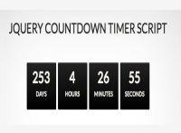 20 CSS3 ve jQuery Geri Sayım Sayacı