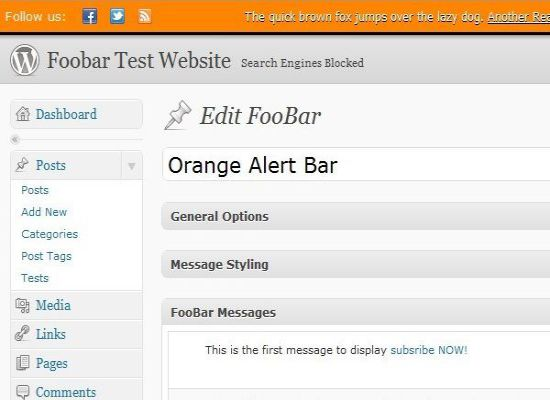 foobar wordpress notifications system premium item