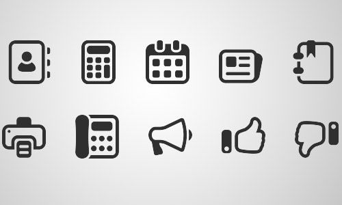 mono business icon set