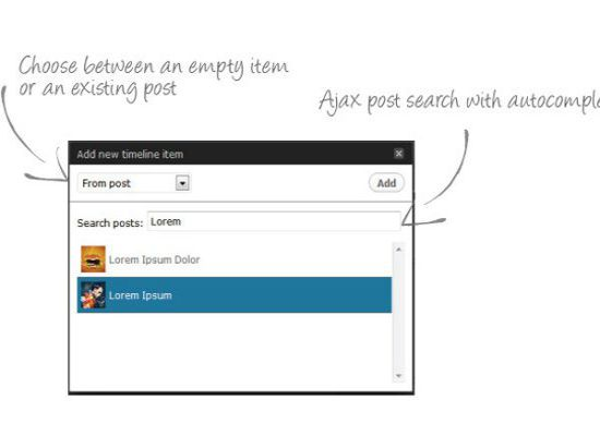 content timeline responsive wordpress plugin