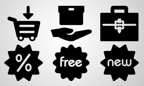 shops business icons