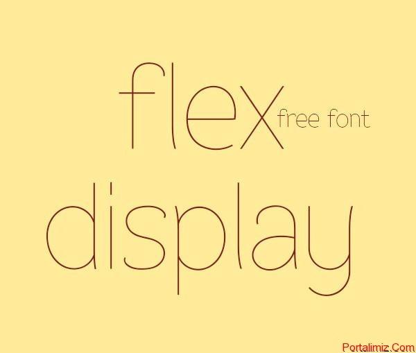 40 Flat Tasarım Yazı Tipi
