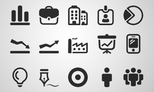 mono business icons