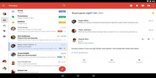 gmail e-posta uygulaması