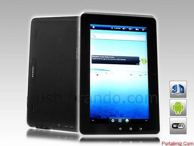 Gözlük Gerektirmeyen 3D Gadmei T863-3D Tablet