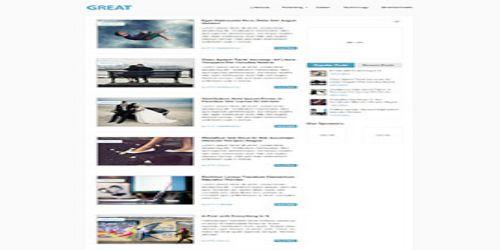 WordPress Great Tema ekran görüntüsü
