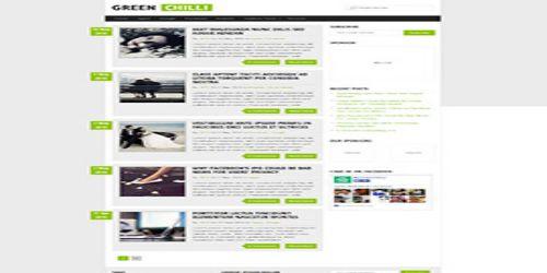 GreenChilli WordPress Tema ekran görüntüsü