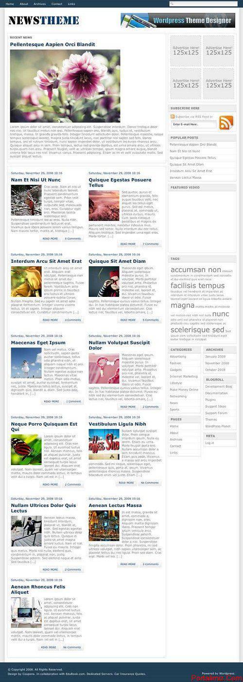 Wordpress NewsTheme Magazin Teması