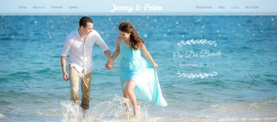 On-Da-Beach---Wedding-WordPress-Theme