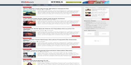 Ribbon WordPress Tema ekran görüntüsü