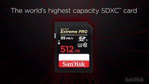 Sandisk 512 GB Hafıza Kartını Satışa Sundu