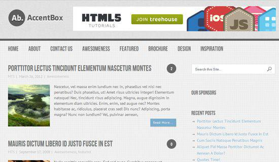 Accentbox WordPress Tema
