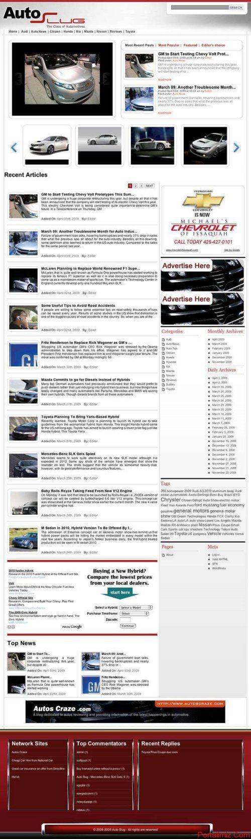 Wordpress AutosSlug Magazin Teması
