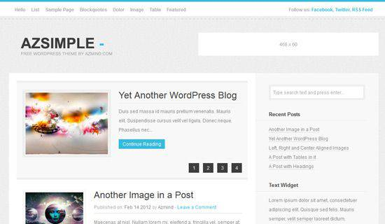 Azsimple WordPress Tema