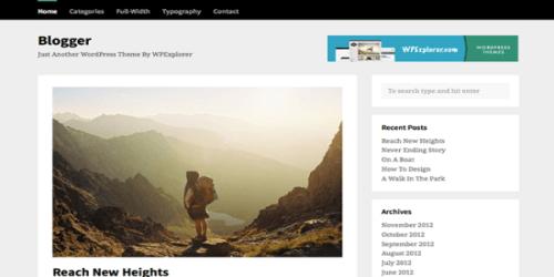 Blogger WordPress Tema ekran görüntüsü