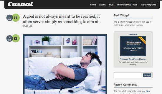 Casual WordPress Tema