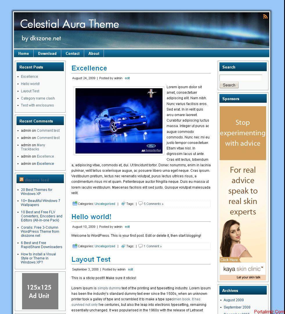 Celestial Aura Türkçe WordPress Tema