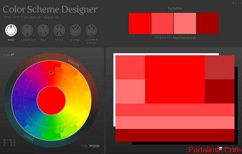 Web Sitesi Renk Düzeni (Color Scheme Designer)
