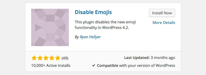 disable-emojis-plugin