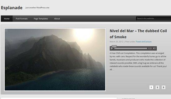 Esplanade WordPress Tema