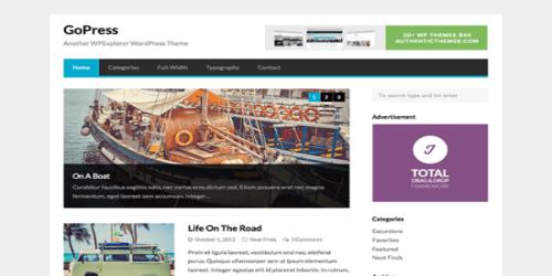 GoPress WordPress Tema ekran görüntüsü