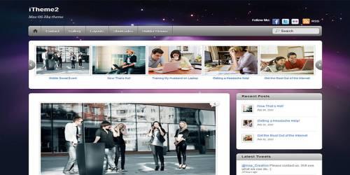 iTheme2 WordPress Tema ekran görüntüsü