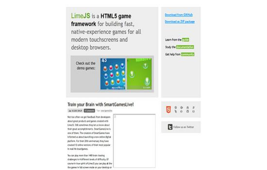 LimeJS Javascript & HTML5 game engine library