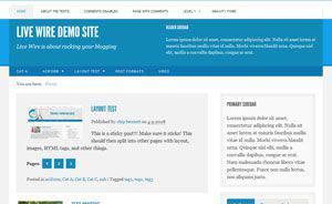 Live Wire WordPress Tema