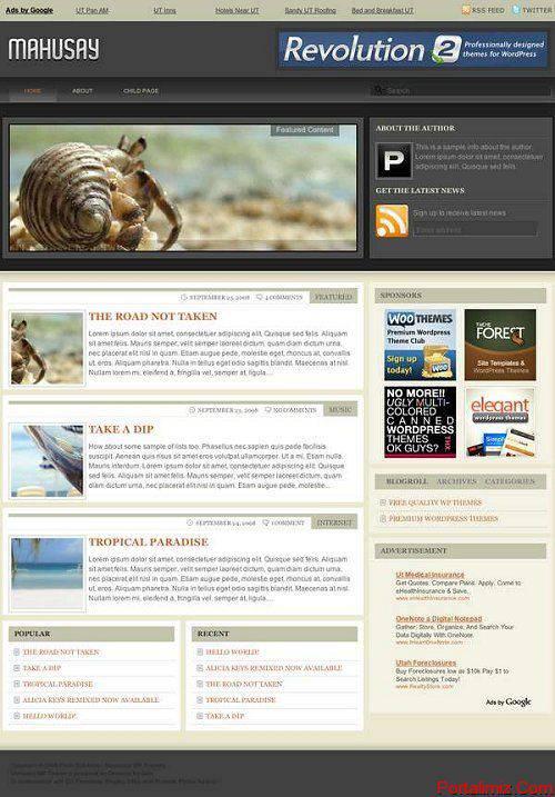 Wordpress Mahusay Magazin Teması