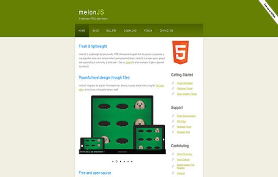 melonJS Javascript & HTML5 game engine library