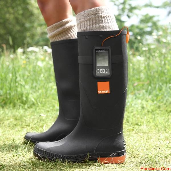 Orange Power Wellies