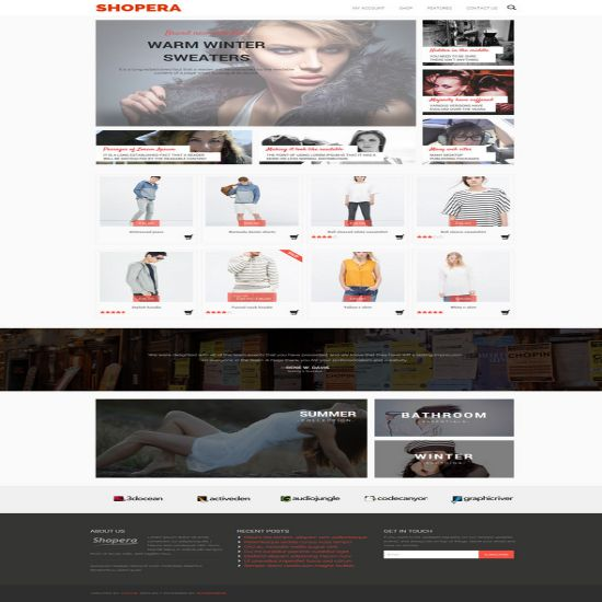 highly customizable free WooCommerce theme