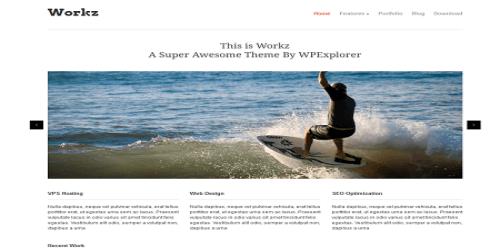Workz WordPress Tema ekran görüntüsü