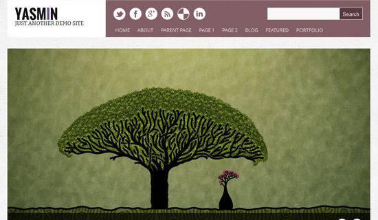 Yasmin WordPress Tema ekran görüntüsü