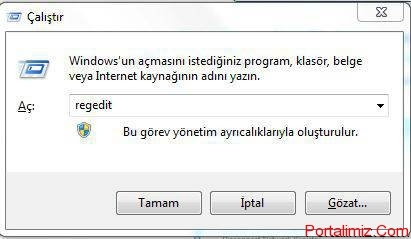 Windows Run Ekranı
