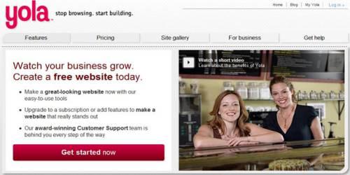 Yola website builder