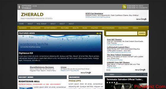 Wordpress Zherald Magazin Teması
